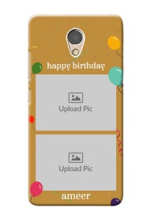 Lenovo P2 Phone Covers: Image Holder with Birthday Celebrations Design