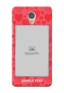 Lenovo P2 Mobile Back Covers: with Red Heart Symbols Design