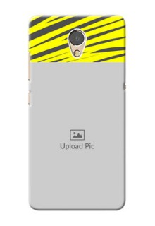 Lenovo P2 Personalised mobile covers: Yellow Abstract Design