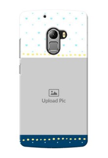 Lenovo Vibe K4 Note White And Blue Abstract Mobile Case Design