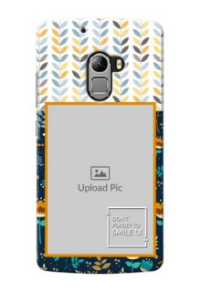 Lenovo Vibe K4 Note seamless and floral pattern design with smile quote Design