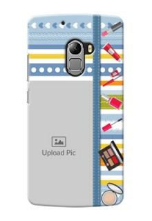 Lenovo Vibe K4 Note hand drawn backdrop with makeup icons Design