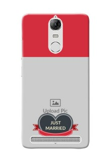 Lenovo Vibe K5 Note Pro Just Married Mobile Cover Design