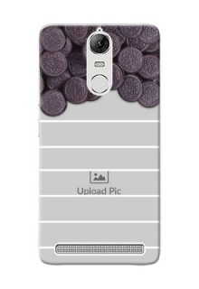 Lenovo Vibe K5 Note Pro oreo biscuit pattern with white stripes Design Design