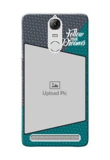 Lenovo Vibe K5 Note Pro 2 colour background with different patterns and dreams quote Design Design