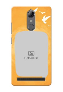 Lenovo Vibe K5 Note watercolour design with bird icons and sample text Design Design