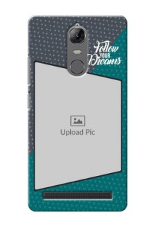Lenovo Vibe K5 Note 2 colour background with different patterns and dreams quote Design Design