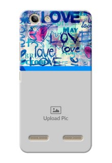 Lenovo Vibe K5 Plus Colourful Love Patterns Mobile Case Design