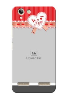 Lenovo Vibe K5 Plus Red Pattern Mobile Cover Design