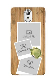 Lenovo Vibe P1 M 3 image holder with wooden texture  Design