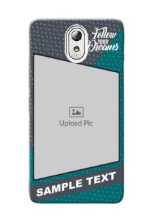 Lenovo Vibe P1 M 2 colour background with different patterns and dreams quote Design Design