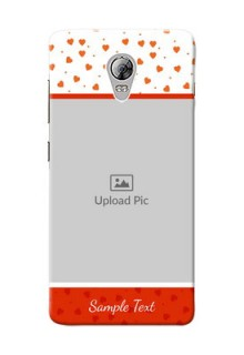 Lenovo Vibe P1 Orange Love Symbol Mobile Cover Design