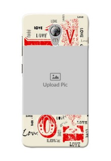Lenovo Vibe P1 Lovers Picture Upload Mobile Case Design