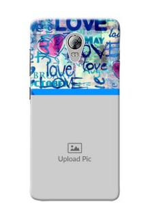 Lenovo Vibe P1 Colourful Love Patterns Mobile Case Design