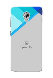 Lenovo Vibe P1 Blue Abstract Mobile Cover Design