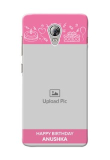Lenovo Vibe P1 plain birthday line arts Design Design
