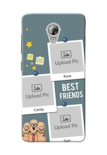 Lenovo Vibe P1 3 image holder with sticky frames and friendship day wishes Design