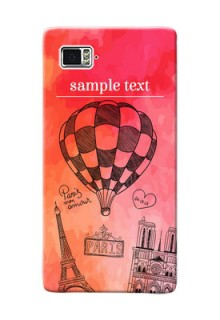 Lenovo Vibe Z2 Pro abstract painting with paris theme Design