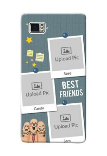Lenovo Vibe Z2 Pro 3 image holder with sticky frames and friendship day wishes Design