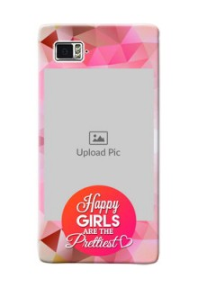 Lenovo Vibe Z2 Pro abstract traingle design with girls quote Design