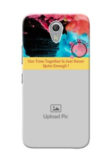 Lenovo ZUK Z1 best friends quote with acrylic painting Design
