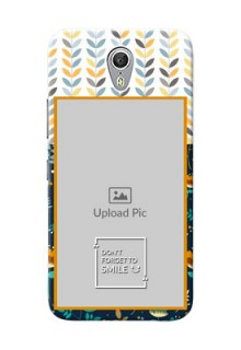 Lenovo ZUK Z1 seamless and floral pattern design with smile quote Design Design