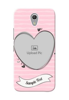 Lenovo ZUK Z1 seamless stripes with vintage heart shape Design