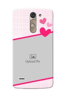LG G3 Stylus Pink Design With Pattern Mobile Cover Design