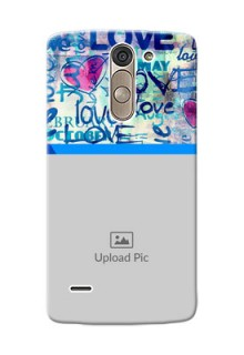 LG G3 Stylus Colourful Love Patterns Mobile Case Design