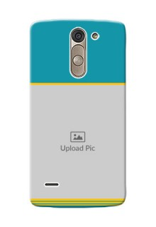 LG G3 Stylus Yellow And Blue Pattern Mobile Case Design