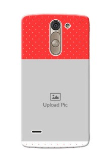 LG G3 Stylus Red Pattern Mobile Case Design