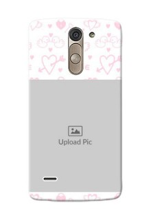 LG G3 Stylus Flying Hearts Mobile Back Cover Design