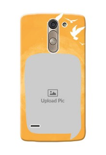 LG G3 Stylus watercolour design with bird icons and sample text Design Design