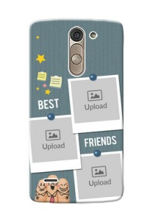 LG G3 Stylus 3 image holder with sticky frames and friendship day wishes Design