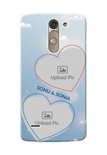 LG G3 Stylus couple heart frames with sky backdrop Design