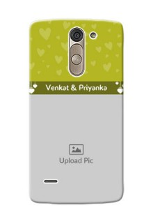 LG G3 Stylus you and me design with hanging hearts Design Design