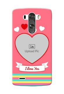 LG G3 I Love You Mobile Cover Design