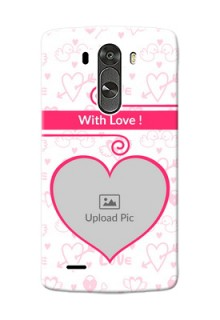 LG G3 Pink Colour Mobile Case Design