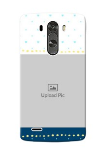LG G3 White And Blue Abstract Mobile Case Design