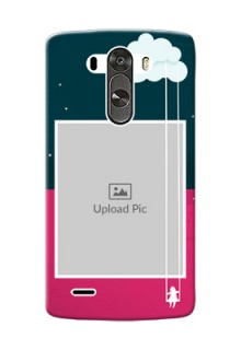LG G3 Cute Girl Abstract Mobile Case Design