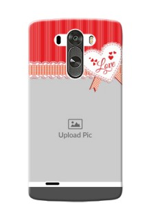 LG G3 Red Pattern Mobile Cover Design