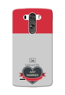LG G3 Just Married Mobile Cover Design