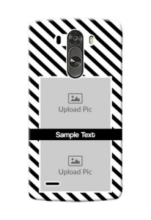 LG G3 2 image holder with black and white stripes Design