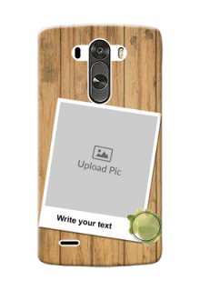 LG G3 3 image holder with wooden texture  Design