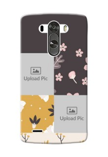 LG G3 3 image holder with florals Design