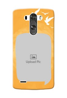 LG G3 watercolour design with bird icons and sample text Design Design