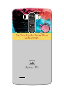 LG G3 best friends quote with acrylic painting Design