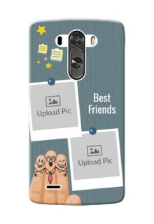 LG G3 3 image holder with sticky frames and friendship day wishes Design