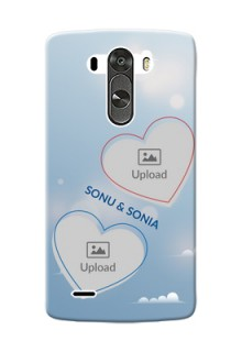 LG G3 couple heart frames with sky backdrop Design