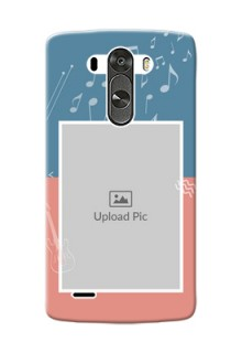 LG G3 2 colour backdrop with music theme Design